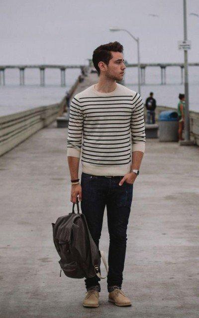 Kaos stripes yang woles