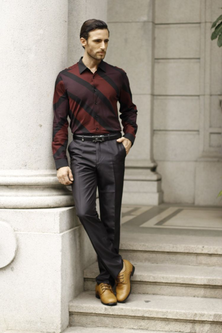 High-Quality-Fashion-Noble-Men-Calfskin-Leather-Yellow-Brown-Work-Tailor-Made-Dress-Shoes