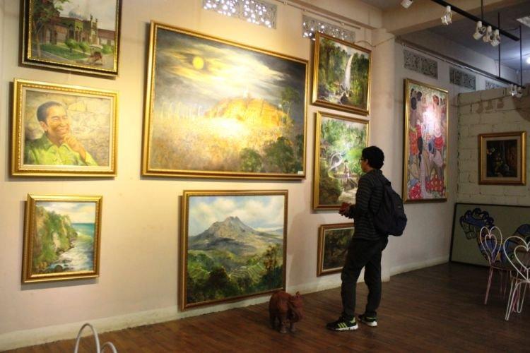 Ruang galeri di Rumah Kamera.