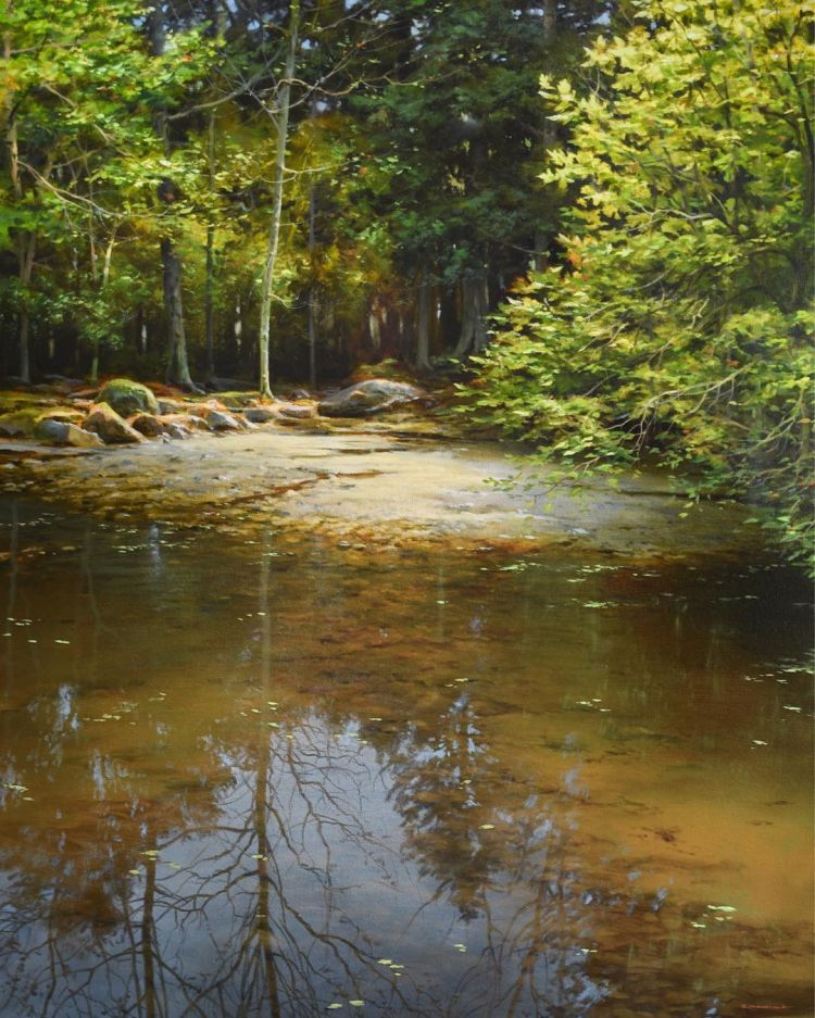 """The Amber Pool"""" 24x30 oil on canvas 2016"""
