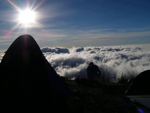 sunset at Mount Rinjani