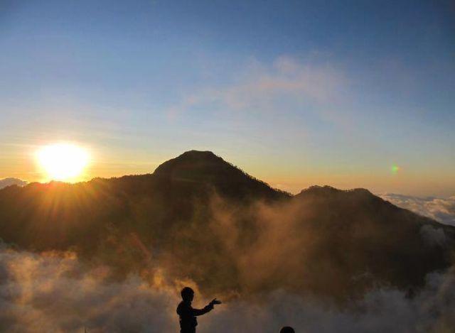 Sunset on Rinjani Mountain