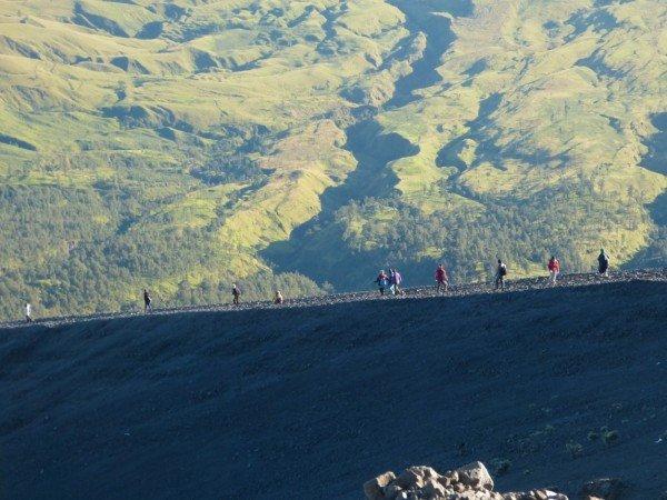 Mount Rinjani volcano trekking