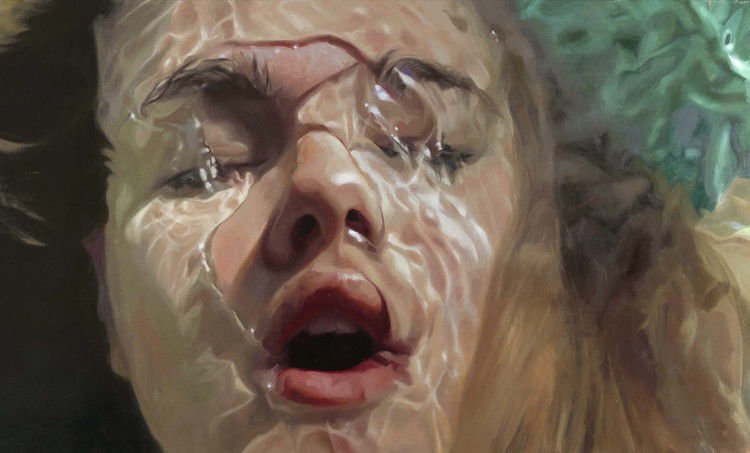 """Receive, 82""""x48"""", oil on canvas, 2016"""