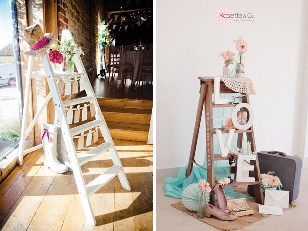Vintage-ladders-for-wedding-decor-Quirky-Parties
