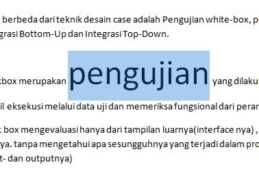 Memperbesar ukuran huruf dengan Ctrl+Shift+ sign (>)