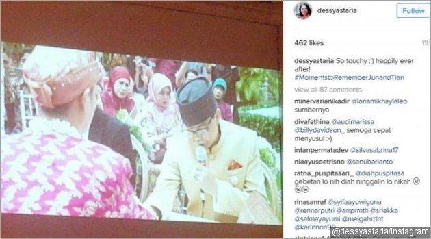 Video yang diunggah oleh akun instagram @dessyastaria, memperlihatkan Jun yang tengah mengucap kalimat syahadat.