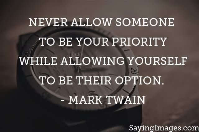 your priority