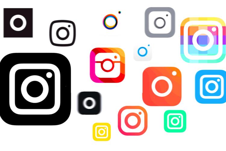 Berbagai pilihan logo instagram
