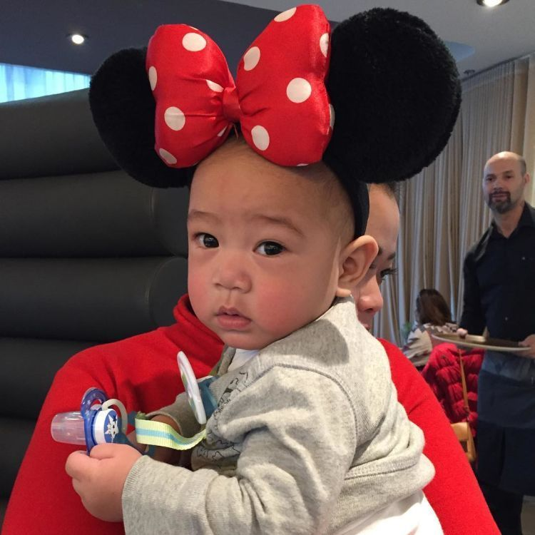 Rafathar jadi minnie mouse.
