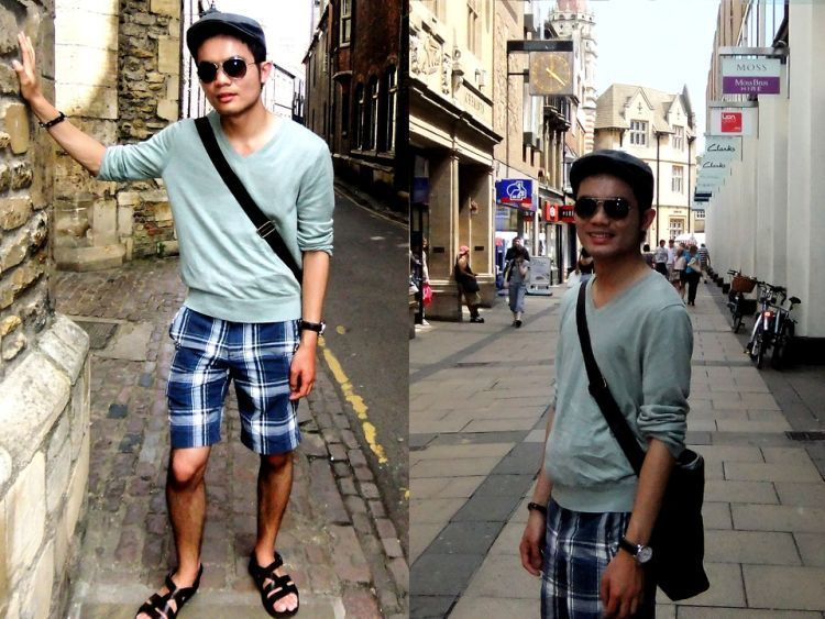 shorts + sandal