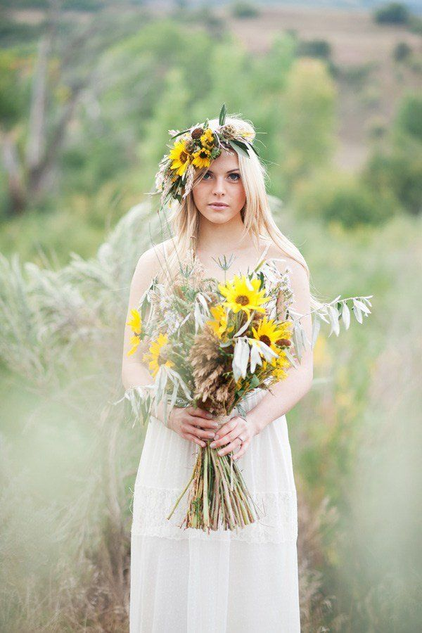 bunga matahari dan gandum