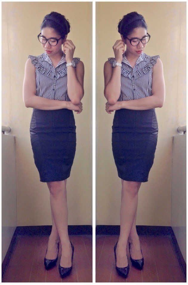 blouse + rok pensil