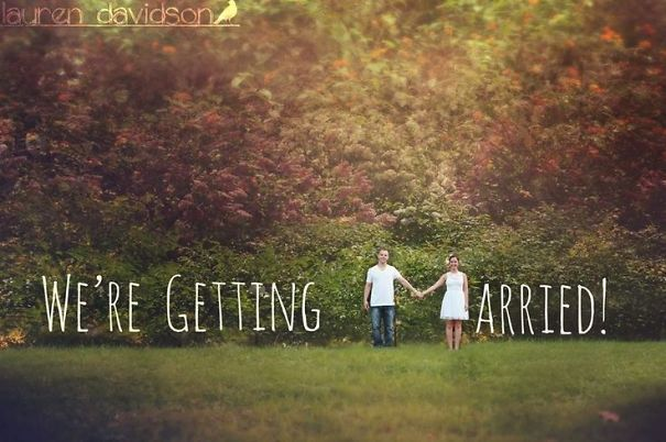 getting married.