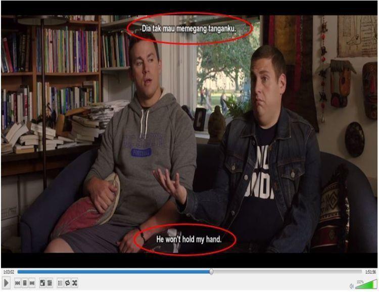 Nah, kaya gini nih dual subtitle.