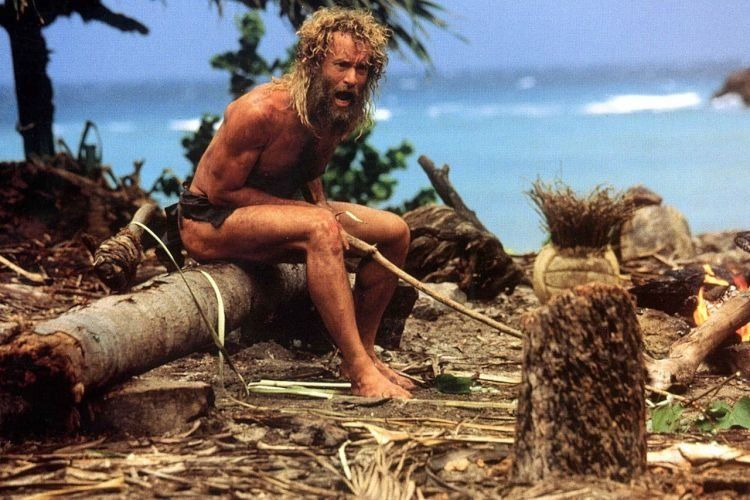 Chuck Nolan bertahan hidup di pulau tak berpenghuni