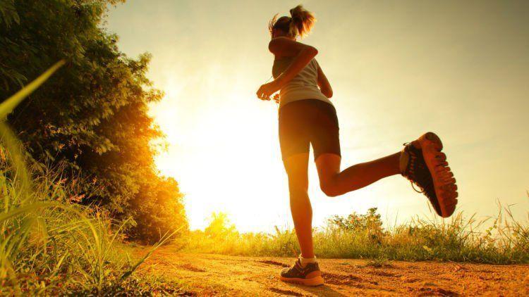 jogging di tempat terbuka