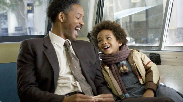 Christopher Gardner bersama anaknya