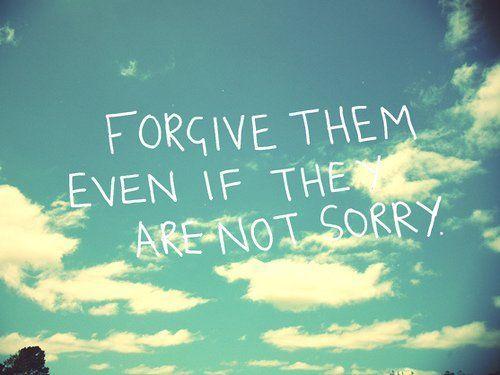 Saya berusaha untuk memaafkan...