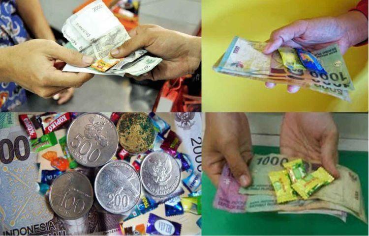 uang receh dipakai untuk kembalian saat belanja