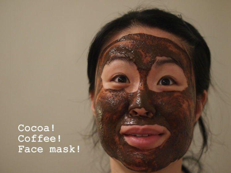 Masker kopi dan coklat