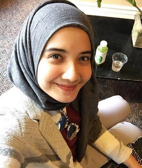 hijab polos zaskia sungkar