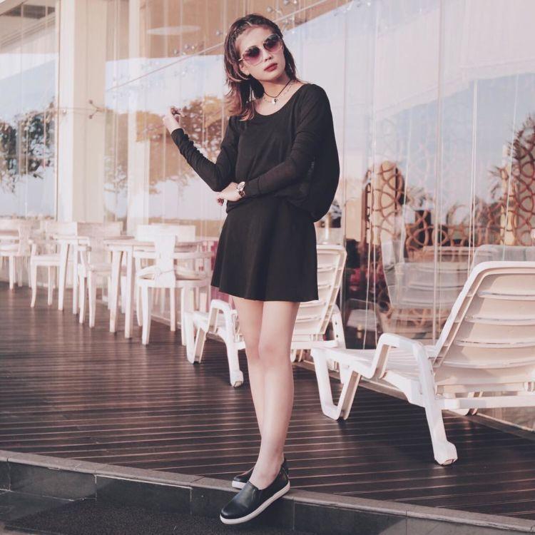 dress hitam!