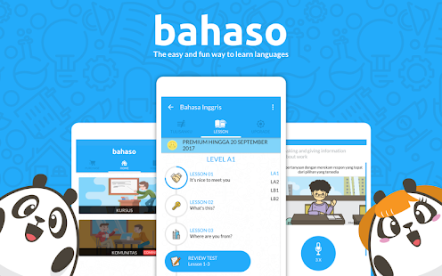 Bahaso; online english course platform