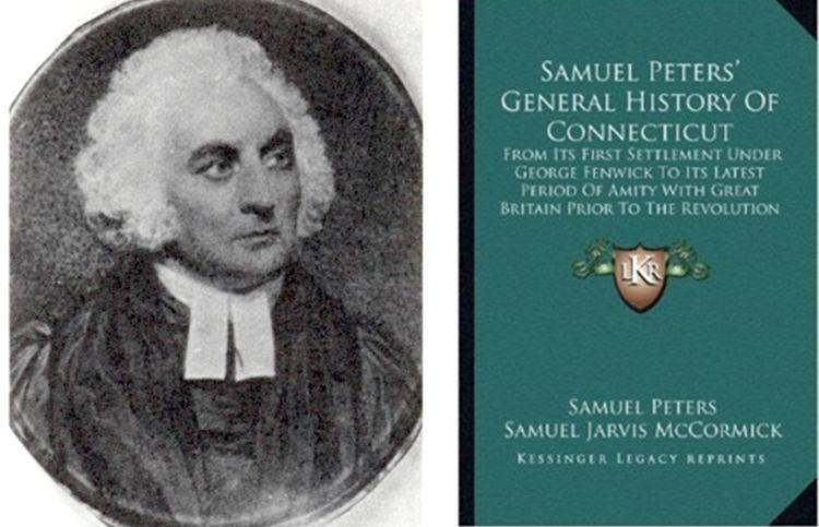 Samuel Peters dan bukunya.