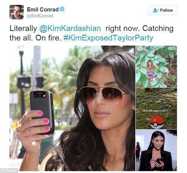 Kim berhasil nangkap Taylor via kapanlagi.com
