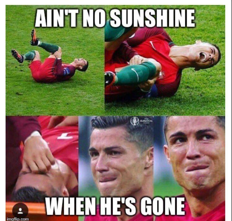 Setelah Ronaldo cedera, pertandingannya jadi berbeda