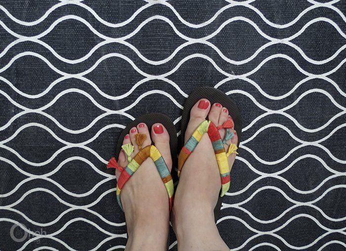lucunya sandal benang rumbai :)