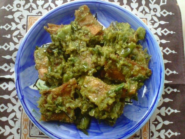 sambal hijau ikan asin