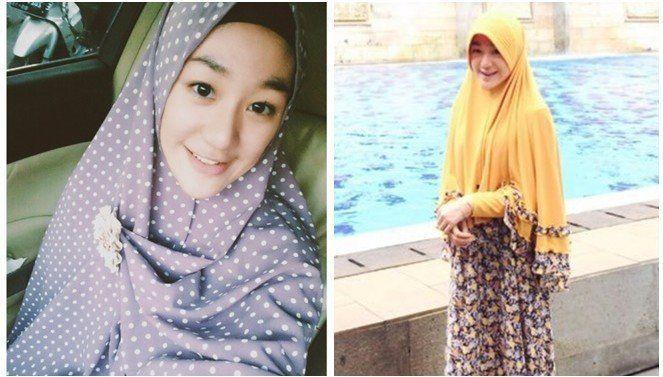 keputusannya untuk memakai jilbab syar'i pun muncul setelah sebulan memluk agama Islam