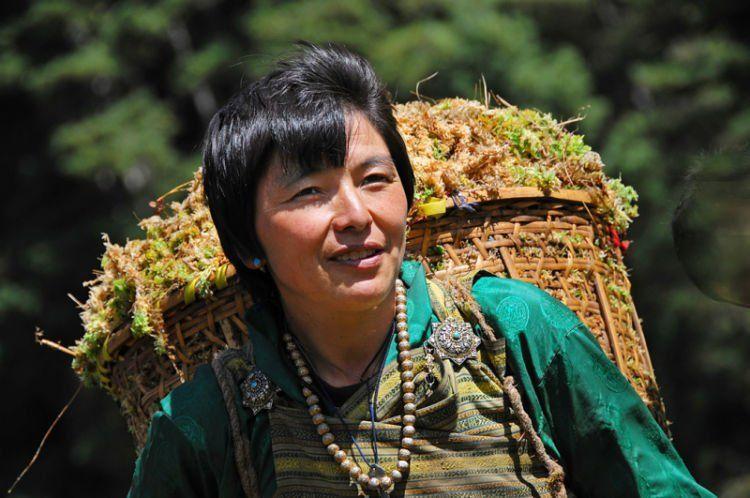 Sekitar 80% penduduk Bhutan bekerja di sektor pertanian.