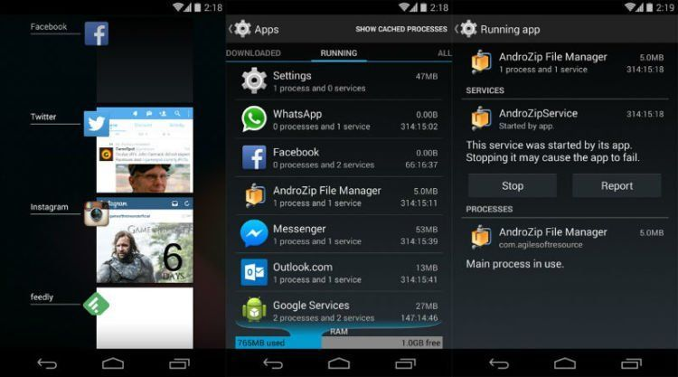 Aplikasi yang running