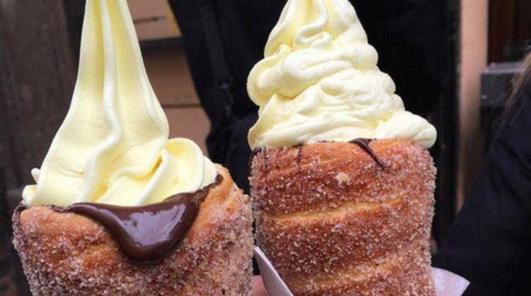 chimney cake ice cream