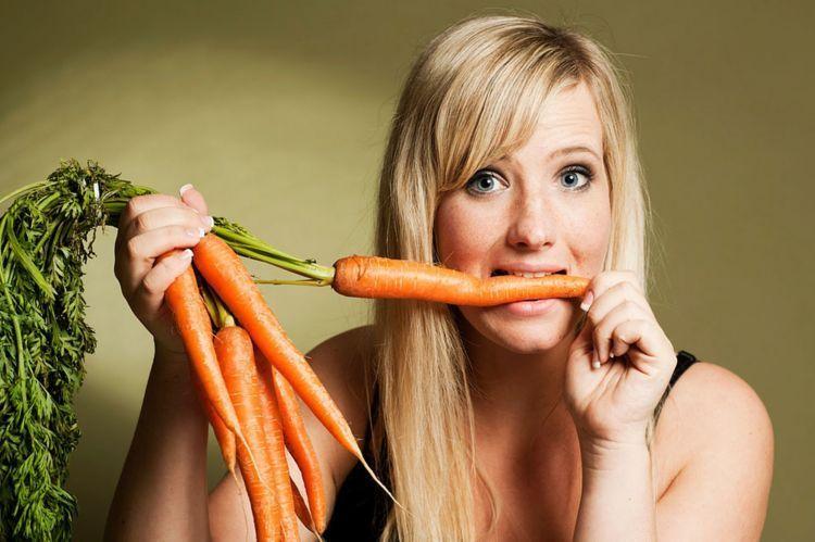 makan wortel yang banyak