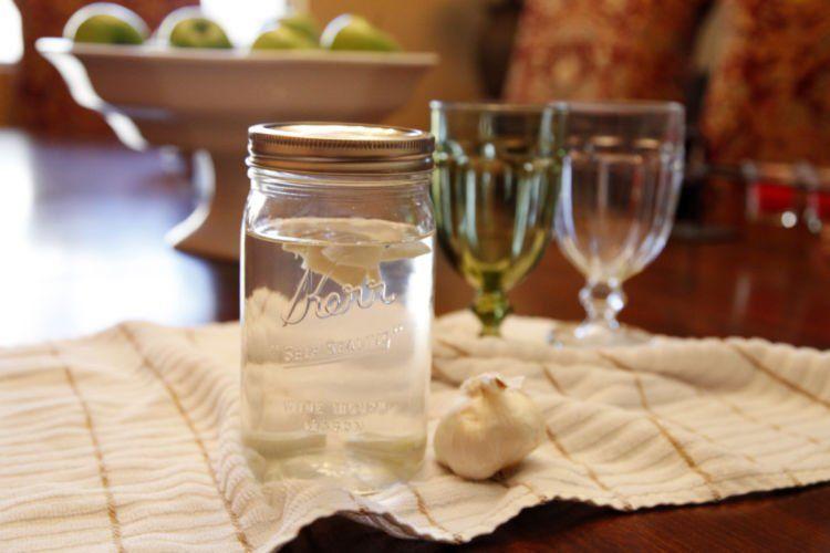 air hangat+bawang putih