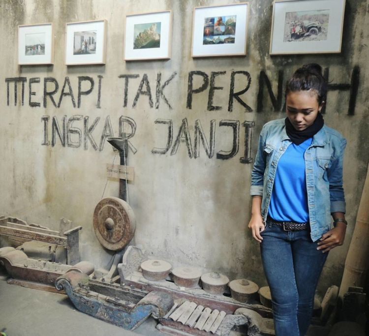 Merapi Tak Pernah Ingkar Janji. - Museum Sisa Hartaku, Yogyakarta.