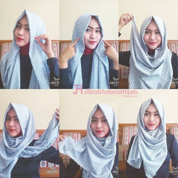 perpaduan warna hijab dan ciput