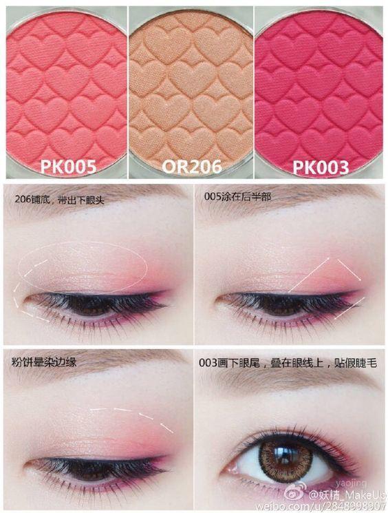 eyeshadow pink
