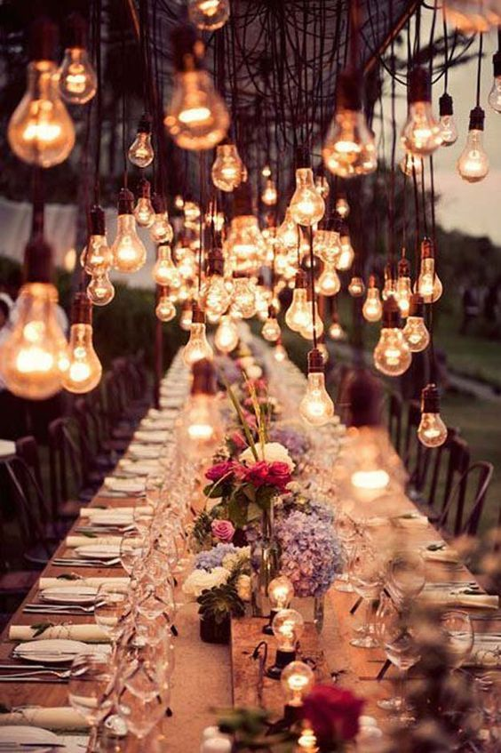 lampu bohlam romantis!