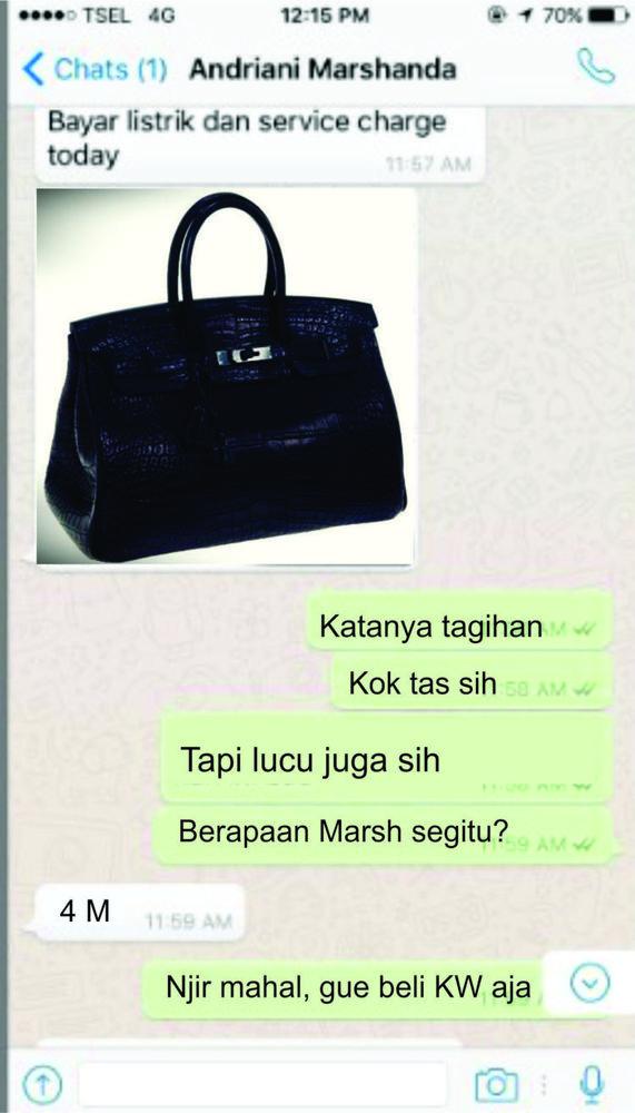 Tasnya KW ya? :(