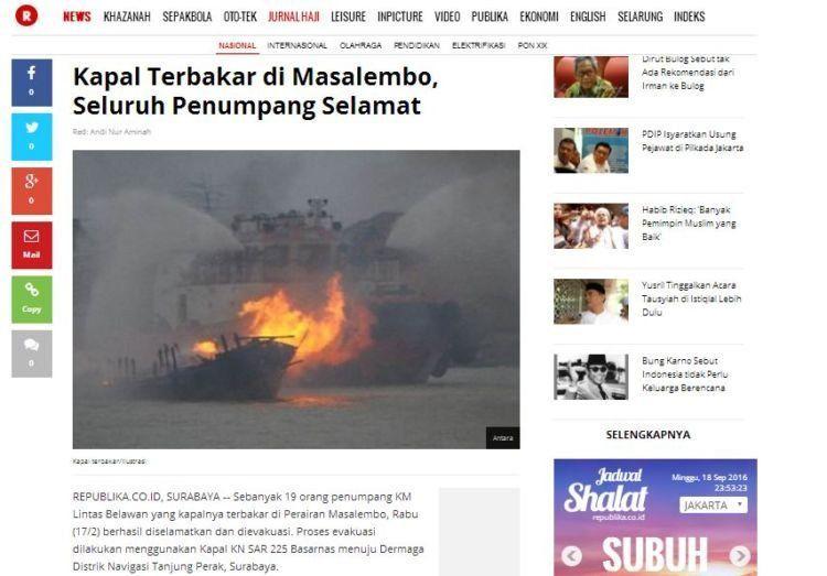 Kecelakaan laut terus terjadi