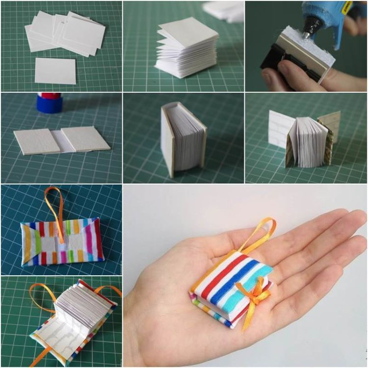 DIY Project Ideas : How to Make a Mini Origami Book - miniature ... | 750x750