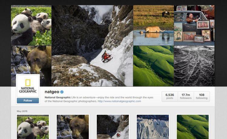 instagramnya natgeo, misalnya..