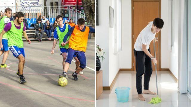 Futsal VS Work in the house