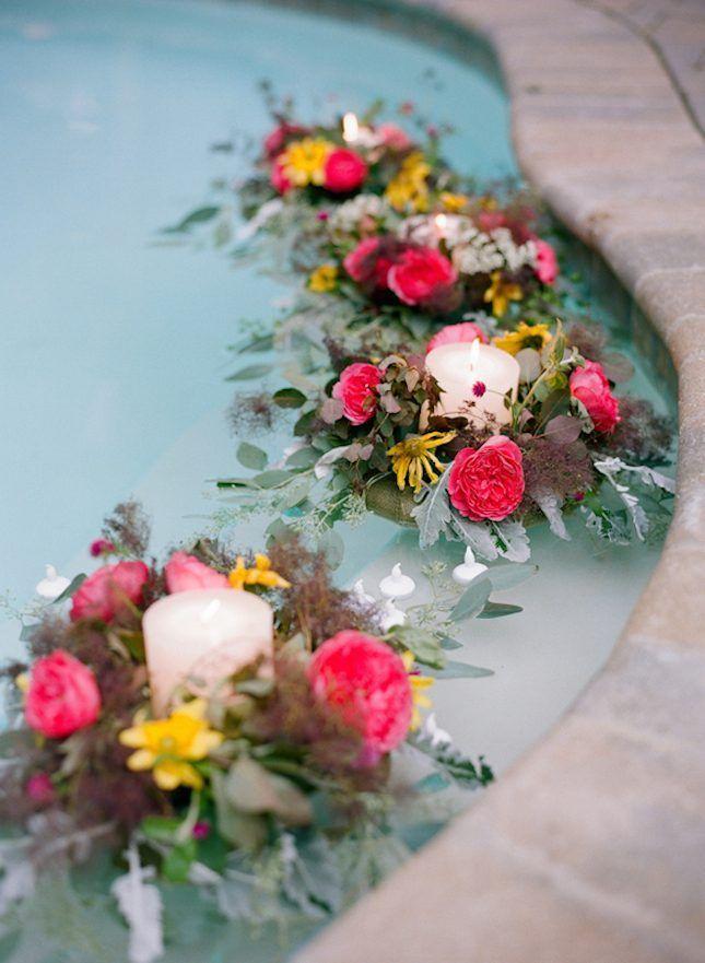buket bunga dan lilin