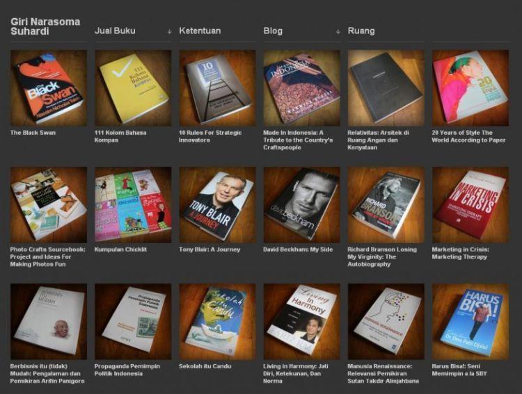 Jual buku online.
